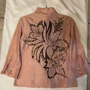 Classic Roberto Cavalli silk button down shirt
